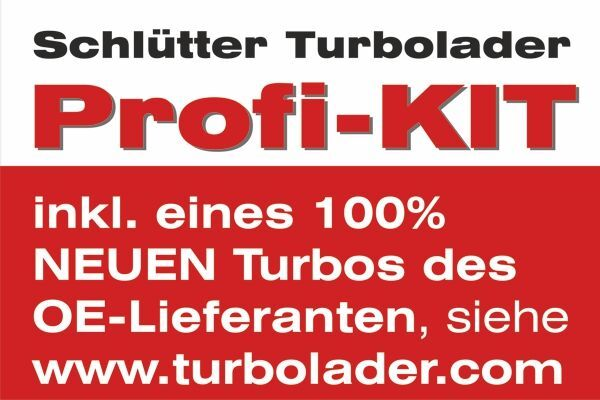 Lader, Aufladung PROFI PLUS- mit orig. GARRETTbyHONEYWELL Turbo NEUTEIL AT