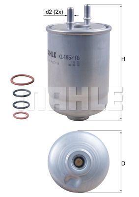 Kraftstofffilter - KL 485/16D