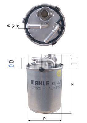 Kraftstofffilter - KL 497D