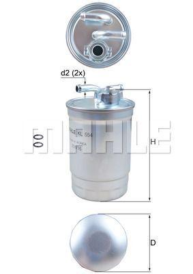 Kraftstofffilter - KL 554D