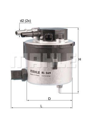 Kraftstofffilter - KL 569