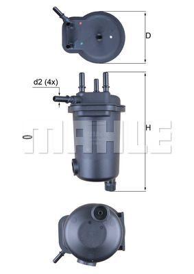 Kraftstofffilter - KL 632D