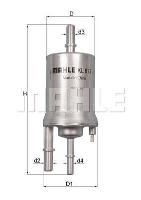 Kraftstofffilter - KL 871