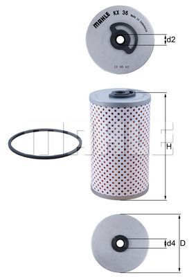 Kraftstofffilter - KX 36D