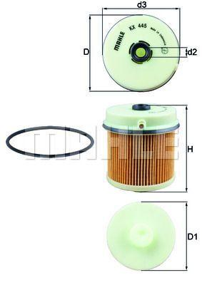 Kraftstofffilter - KX 445D