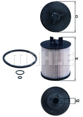 Kraftstofffilter - KX 86/1D
