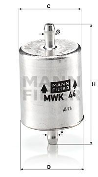Kraftstofffilter - MWK 44