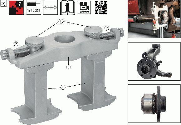Montagewerkzeugsatz, Radnabe/Radlager Kompakt-Radlager-Werkzeug