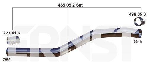 Reparaturrohr, Ruß-/Partikelfilter Set