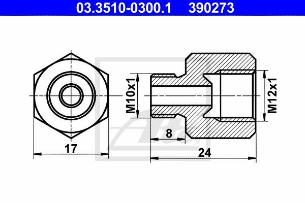 Adapter, Bremsleitung