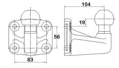 Anschraubplatte, Anhängevorrichtung