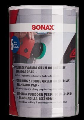 Aufsatz, Poliermaschine PolierSchwamm grün 80 (medium) - Six-Pack-