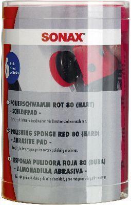 Aufsatz, Poliermaschine PolierSchwamm rot 80 (hart) - Six-Pack-