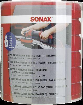 Aufsatz, Poliermaschine PolierSchwamm rot 160 (hart) - Six-Pack-