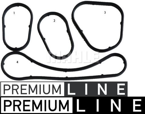Dichtungssatz, Ölkühler BEHR *** PREMIUM LINE ***