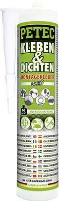 Glas-Metall-Klebstoff KLEBEN & DICHTEN MONTAGEKLEBER, WEISS