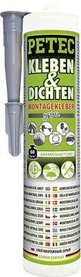 Glas-Metall-Klebstoff KLEBEN & DICHTEN MONTAGEKLEBER, GRAU