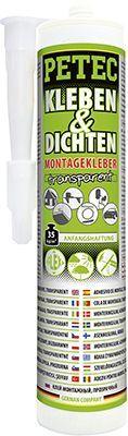 Glas-Metall-Klebstoff KLEBEN & DICHTEN MONTAGEKLEBER,  TRANSPARENT