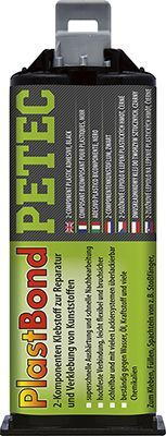 Kunststoff-Klebstoff PLASTBOND, Kunststoffreparatur schwarz