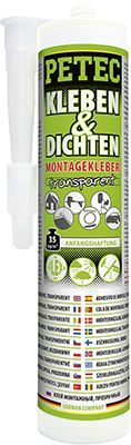 Universalklebstoff KLEBEN & DICHTEN MONTAGEKLEBER,  TRANSPARENT