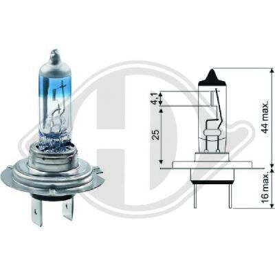 Glühlampe, Abbiegescheinwerfer Xenon Look 3.540?K +50% More Light