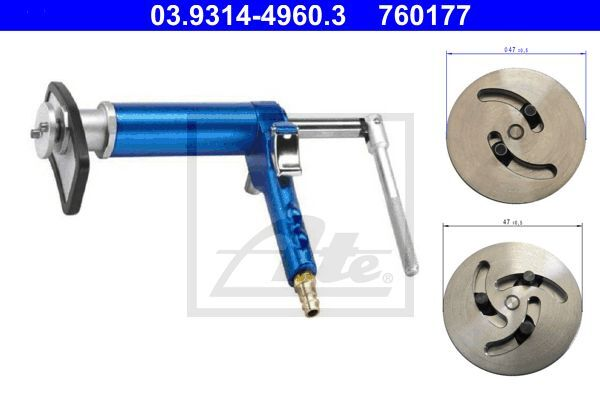 Dreh-/Rückstellwerkzeugsatz, Bremssattelkolben