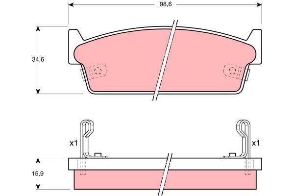 Bremsbelagsatz, Scheibenbremse - GDB1002