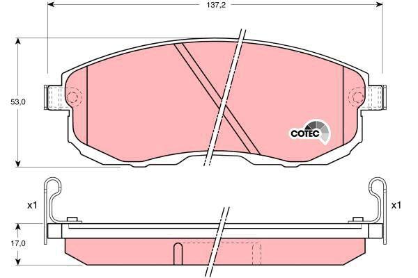 Bremsbelagsatz, Scheibenbremse COTEC - GDB1003