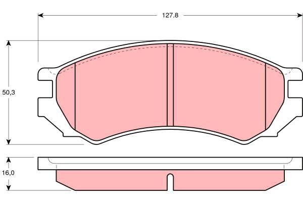 Bremsbelagsatz, Scheibenbremse - GDB1005