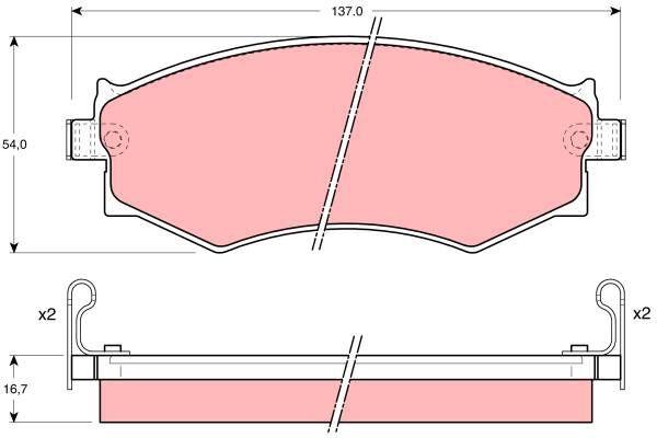 Bremsbelagsatz, Scheibenbremse - GDB1008