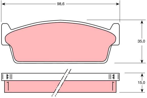 Bremsbelagsatz, Scheibenbremse - GDB1021