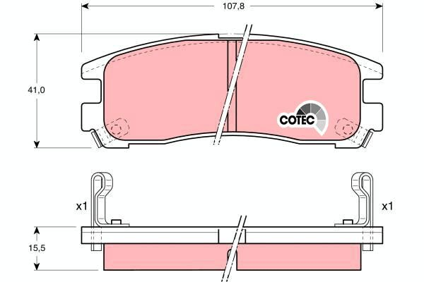 Bremsbelagsatz, Scheibenbremse COTEC - GDB1023