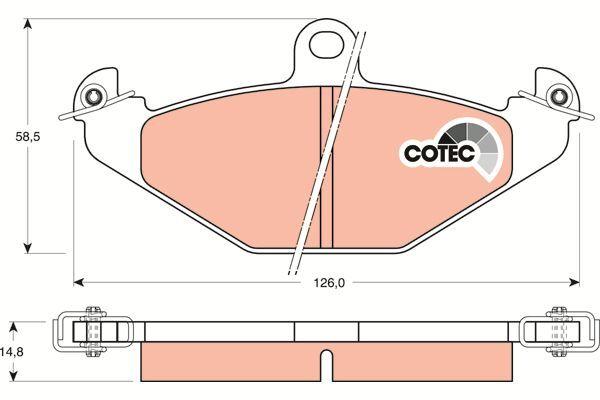 Bremsbelagsatz, Scheibenbremse COTEC - GDB1041