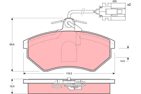 Bremsbelagsatz, Scheibenbremse - GDB1057