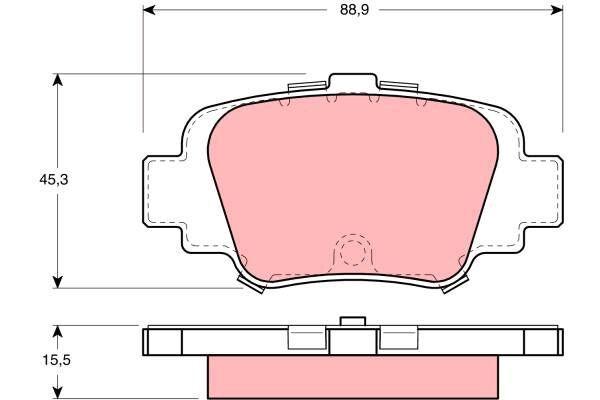 Bremsbelagsatz, Scheibenbremse - GDB1060