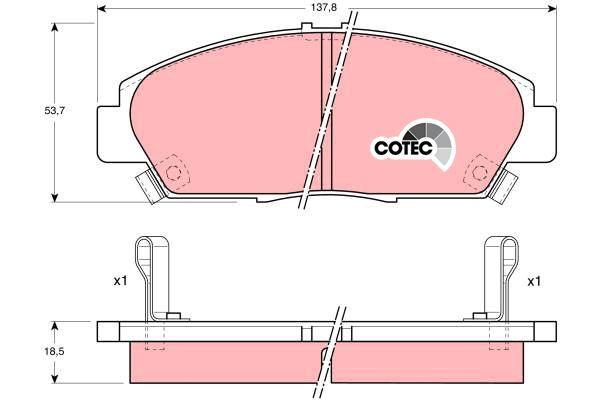 Bremsbelagsatz, Scheibenbremse COTEC - GDB1061
