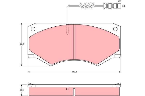 Bremsbelagsatz, Scheibenbremse - GDB1067