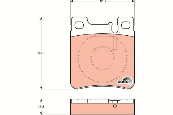 Bremsbelagsatz, Scheibenbremse COTEC - GDB1123