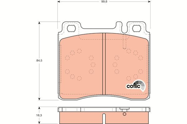 Bremsbelagsatz, Scheibenbremse COTEC - GDB113