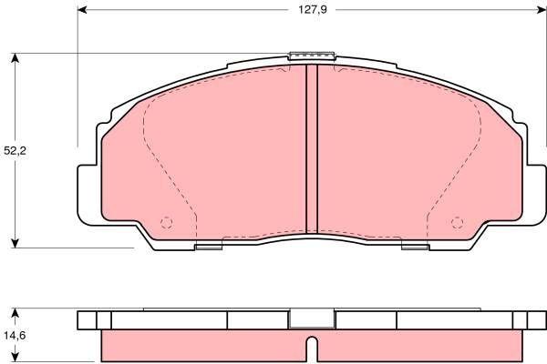 Bremsbelagsatz, Scheibenbremse - GDB1135
