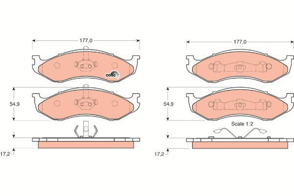 Bremsbelagsatz, Scheibenbremse COTEC - GDB1153
