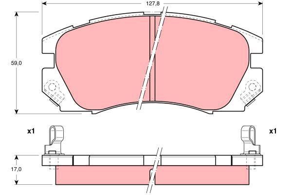 Bremsbelagsatz, Scheibenbremse - GDB1179