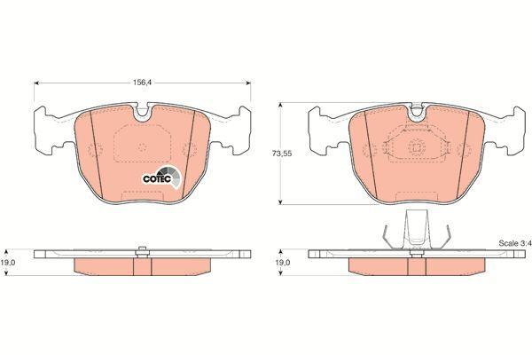 Bremsbelagsatz, Scheibenbremse COTEC - GDB1261