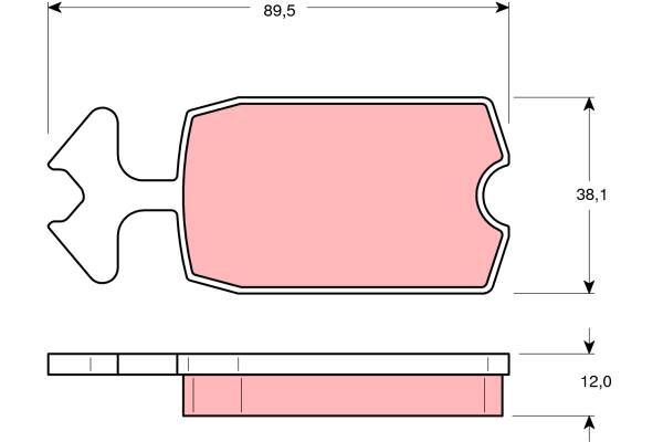 Bremsbelagsatz, Scheibenbremse - GDB127