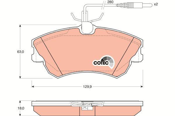 Bremsbelagsatz, Scheibenbremse COTEC - GDB1270