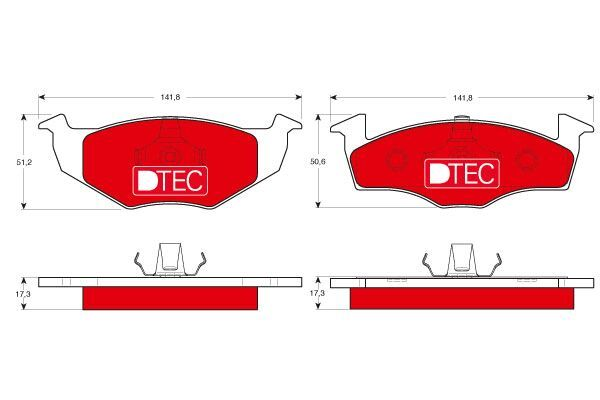 Bremsbelagsatz, Scheibenbremse DTEC COTEC - GDB1274DTE