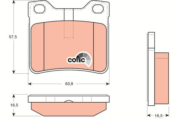 Bremsbelagsatz, Scheibenbremse COTEC - GDB1276