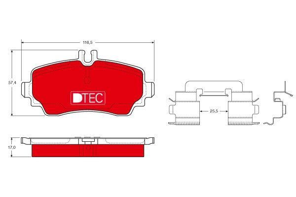 Bremsbelagsatz, Scheibenbremse DTEC COTEC - GDB1293DTE