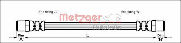 Bremsschlauch Metzger 4111351